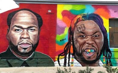 Graffiti umělec si dělá srandu z 50 Centa. Maluje ho jako 6ix9inea nebo Trumpa, raper mu kvůli tomu vyhrožoval oprátkou