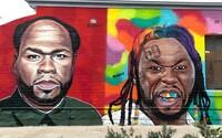 Graffiti umelec si robí srandu z 50 Centa. Maľuje ho ako Tekashiho či Trumpa, raper sa mu vyhráža slučkou