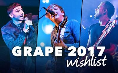Grape 2017 Wishlist: Akých interpretov by sme chceli vidieť na nasledujúcom festivale Grape?