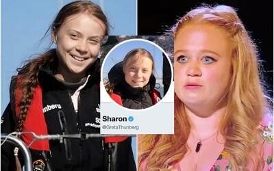 Greta Thunberg si zmenila meno na Twitteri, volá sa Sharon. Reaguje na vedomostnú súťaž pre celebrity