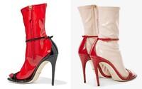 Gucci nabízí boty na podpatku s falešnou ponožkou. Na výběr jsou dokonce i latexové podkolenky