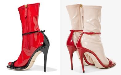 Gucci ponúka topánky na podpätku s falošnou ponožkou. Na výber sú dokonca i latexové podkolienky