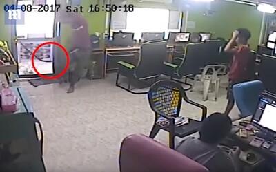 Had nepozorovaně vtrhl do kavárny, lidé ze strachu téměř zničili celou místnost. Video plné paniky baví internet