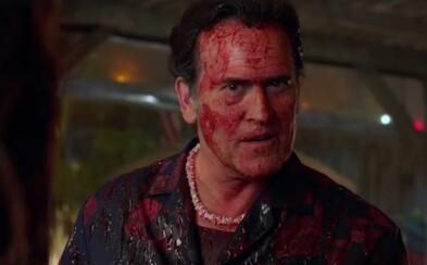 Hektolitre krvi, črevá, démoni a bláznivý humor. To je NSFW trailer k 2. sérii šialene dobrého Ash vs Evil Dead