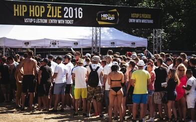 Hip Hop Žije 2016 sa aj napriek predčasnému koncu tešil veľkej návštevnosti a nechýbali kvalitné rapové vystúpenia (Fotoreport)