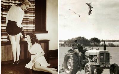 Historické fotografie hovořící o tom, co všechno si už lidstvo v minulosti zažilo. Od přenosného televizoru na hlavě po dřevěné plavky