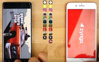 Historie se opakuje: Android smartphone Galaxy Note8 nestačil v testu rychlosti rok starému iPhonu 7 Plus
