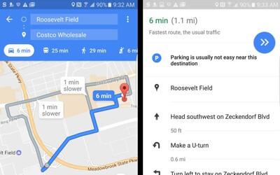 Hľadanie miesta na parkovanie pôjde jednoduchšie. Google Maps nás bude informovať aj o kapacite parkovísk