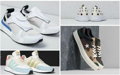 Hľadáte ideálne tenisky na leto? Siahnite po futuristických adidas alebo ikonických Converse v maskáčovom kabáte