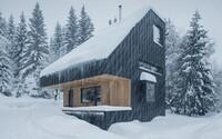 Hliníkové opláštenie a drevo v hlavnej úlohe. Českí architekti predstavujú chatu inšpirovanú prírodou na okraji lesa