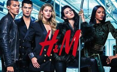 H&M x Balmain vyťahuje zbrane v podobe Kendall Jenner či Gigi Hadid na kampaňových fotkách spoločnej kolekcie