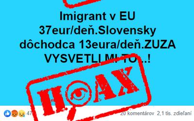 HOAX: Muž na internete šíril, že migranti na Slovensku dostávajú 37 eur na deň a nepriamo obvinil prezidentku. Je to lož