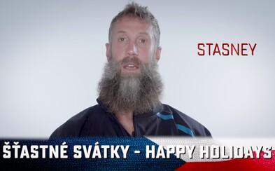 Hokejisté San Jose Sharks se Čechům snažili popřát šťastné svátky