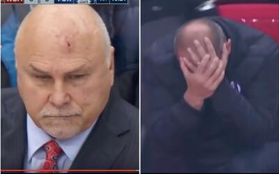 Hokejového trénera trafil do hlavy puk, futbalového zas papierové lietadielko. Ich reakcie sú bez pochýb definíciou týchto športov