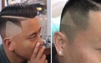 Holič mužovi do vlasov vyholil symbol prehrávania, lebo mu ukázal pozastavené video, podľa ktorého chcel účes