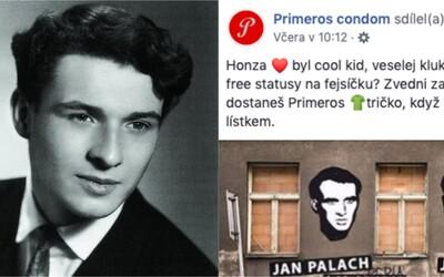 Honza byl cool kid, shořel i za tvoje statusy na fejsíčku? Výrobce kondomů čelí kritice za narážku na Palacha