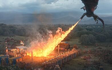 Hora z Game of Thrones drví lebky nepriateľov a dračí dych spaľuje všetko navôkol