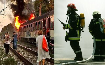 Horiace slovenské vlaky budeš môcť hasiť v novej aplikácii