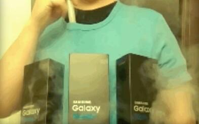 Horiaci Galaxy Note7 je ešte stále v kurze. Chlapíka inšpiroval pri tvorbe dymiaceho obleku na Halloween