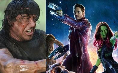 Horor od režiséra Guardians of the Galaxy dorazí túto jeseň a Sylvester Stallone sa dostáva do kondičky kvôli Rambovi 5