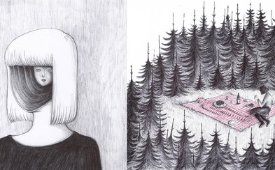 Hororové metafory a surrealismus. Temné ilustrace od italské autorky zachycují zdánlivě nevinné a běžné situace