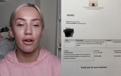 Hotel youtuberce zakázal vstup a teď jí poslal fakturu na 5 milionů eur. Majitel od ní chce peníze za bezplatnou publicitu