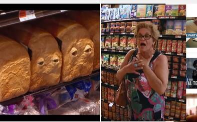 Mluvící potraviny vyděsily nic netušící nakupující. Seth Rogen propaguje Buchty a klobásy vtipným žertíkem