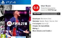 Hráči nesnáší hru FIFA 21. Veřejnost ji hodnotí na 0,8/10, přesto byla v USA nejprodávanější hrou