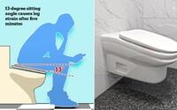 Hraješ si během pauzy v práci na mobilu? Nový model záchodu je tak nepohodlný, že se ti na něm nebude chtít sedět