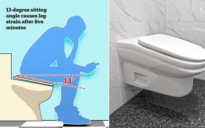 Hráš sa počas pauzy v práci na mobile? Nový model záchodu je taký nepohodlný, že sa ti na ňom nebude chcieť sedieť