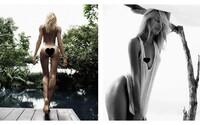 Hříšná Candice Swanepoel zahodila šaty i make-up a předvedla se pouze ve spojení s přírodou