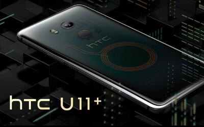 HTC vytáhlo těžký kalibr. Průsvitné tělo nové mašiny U11+ reaguje na stisk našich dlaní