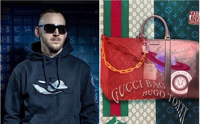 Hugo Toxxx má plnou Gucci tašku nevydaného rapu. Namísto peněz skládá na hromadu skladby