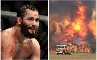 Hvězda UFC pomůže s hašením ničivých požárů v Austrálii