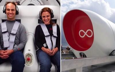 Hyperloop už otestovali s ľudskou posádkou. Takto vyzerá budúcnosť ultrarýchleho cestovania