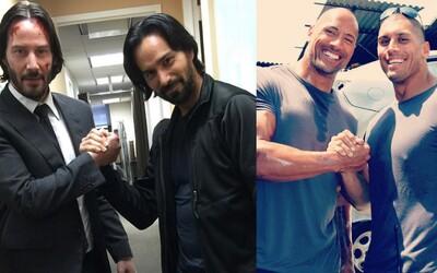 """I Dwayne """"The Rock"""" Johnson či Chris Hemsworth potřebují záskok aneb jak vypadají kaskadérská dvojčata hollywoodských hvězd"""