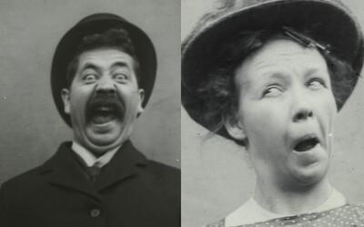 I lidé před 100 lety se uměli před objektivem odvázat. Na přelomu 19. a 20. století se při focení pořádně bavili