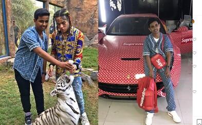 Teprve 16letý synáček miliardáře z Dubaje vlastní kolekci bot za milion dolarů. Chce, aby Tekashiho 6ix9ine osvobodili