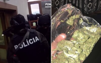 Iba 16-ročný Slovák díloval marihuanu, tak mu policajné komando nabehlo do domu