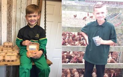 Iba 8-ročný podnikateľ zarába vďaka vajíčkam už 300 eur týždenne, aj keď firmu založil z vlastného vreckového