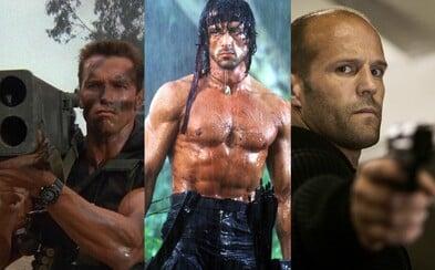 Jejich přítomnost ve filmu znamená pro nepřátele jistou smrt. Kteří herci za sebou nechali nejvíce mrtvých těl?