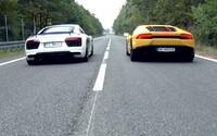 Identická, 610-koňová V10 v dvoch superšportoch. Ktorý je rýchlejší, R8 V10 plus alebo Huracán?