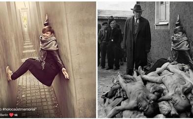 Ignorantskí mladí ľudia predstavujú v spojení s pamätníkmi holokaustu katastrofu. Upozorňuje na to projekt Yolocaust