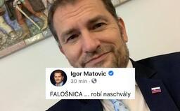 Igor Matovič: Hnusoba je falošnejšia ako úsmev prostitútky, prelstila aj mňa