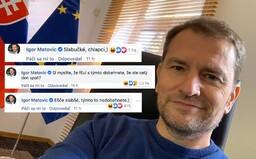 Igor Matovič má čas nakladať v komentároch na facebookovej stránke Zomri: Slabučké, chlapci