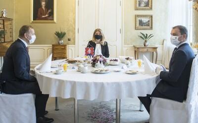 Igor Matovič po raňajkách s Borisom Kollárom a Zuzanou Čaputovou: Pani prezidentka veľmi dobre navarila