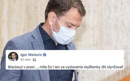 Igor Matovič sa vracia k slovu blackout. Kto chce otvoriť obchody, nemá štipku zdravého rozumu, hovorí