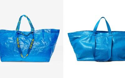 IKEA vtipně zareagovala na hříšně drahou tašku od Balenciagy. Inspirace nepomůže, pokud ji hodíš do bláta či potřebuješ přenést cihly