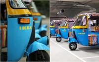 IKEA začala zákazníkom v Indii voziť nábytok na elektrických rikšách. Solárne vozidlá majú vyriešiť problém s hustou dopravou
