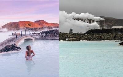 Ikonická Modrá lagúna na Islande je v skutočnosti preplnená turistami a vodu do nej musia čerpať z neďalekej elektrárne